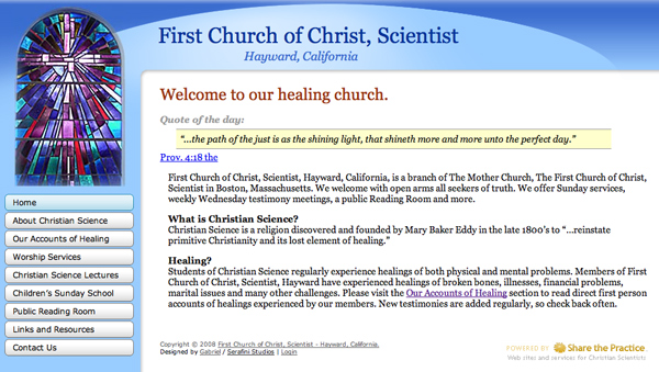 First Church of Christ, Scientist Hayward, California
