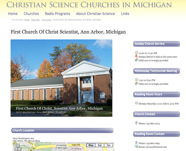 Christian Science in Michigan