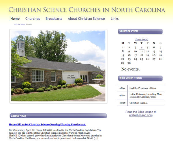 Christian Science in North Carolina